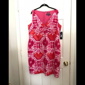Jones New York sleeveless hot pink dress